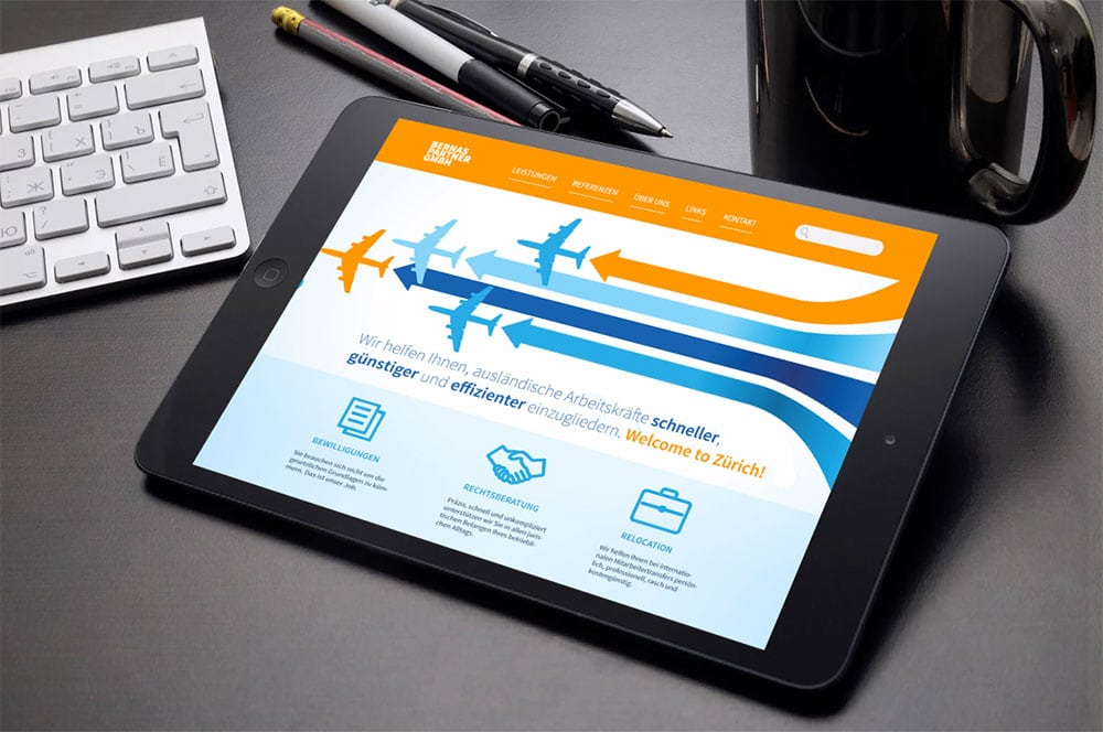 Webdesign Beispiel Webyours GmbH